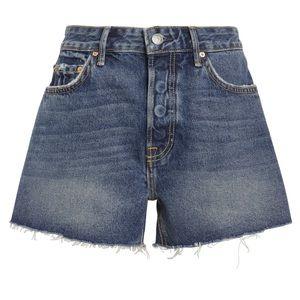 NWOT GRLFRND Helena Cut Off Denim Shorts